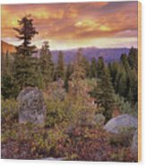 Trinity Mountains Wood Print