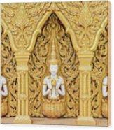 Triple Buddhas, Thailand Wood Print