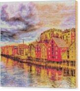 Trondheim - Waterfront Evening Wood Print