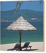 Tropical Holidays On Nha Trang Beach Wood Print