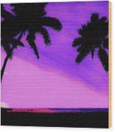 Tropical Pink Sunset Wood Print