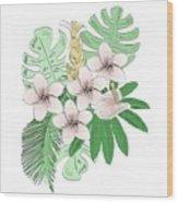 Tropical Vector Illustration Wood Print