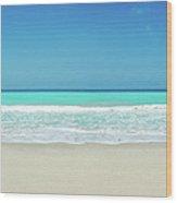 Tropical White Sand Beach Wood Print