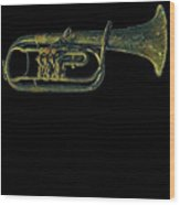 Trumpet Music Instrument Gift For Musician Color Designed Wood Print