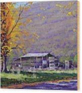 Tumut Valley Farm Shed Wood Print