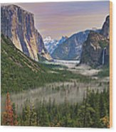 Tunnel View. Yosemite. California Wood Print