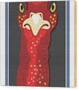 Turkey Stare Jp Wood Print