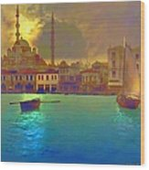 Turkish  Moonlight Wood Print