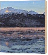 Turnagain Arm At Dawn Alaska Wood Print