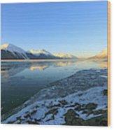 Turnagain Arm In Winter Alaska Wood Print