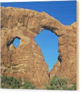 Turret Arch With Moon Wood Print