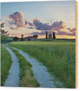 Tuscan Sunset Wood Print