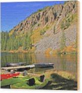 Twin Lakes Wood Print