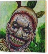 Twisty The Clown Wood Print