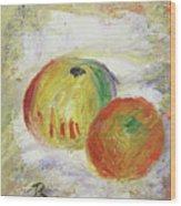Two Apples, 1875 Wood Print