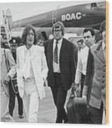 Two Beatles Arrive In New York Wood Print
