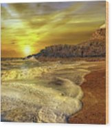 Twr Mawr Lighthouse Sunset Wood Print