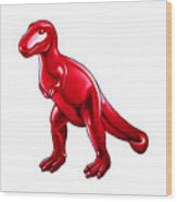 Tyrannosaurus Cartoon Wood Print