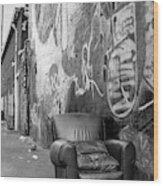 U Street Chair Washington Dc Wood Print