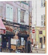 Un Artiste A La Place Du Tertre Paris. Wood Print
