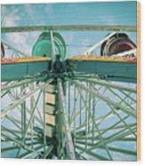 Under The Ferris Wheel Wood Print