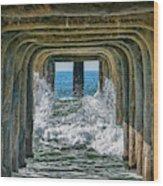 Under The Pier Manhattan Wood Print