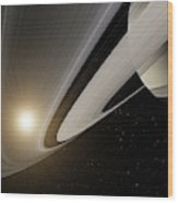 Under The Rings Of Saturn Wood Print