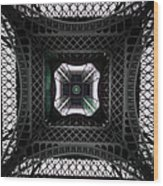 Underneath Of Eiffel Tower, Low Angle Wood Print