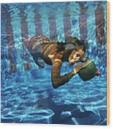 Underwater Drink Wood Print