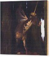 Unicorn 1885 Wood Print