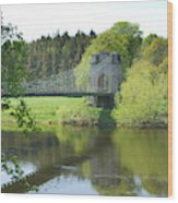 Union Chain Bridge At Horncliffe On River Tweed Wood Print