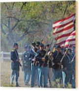 Union Infantry Advance Wood Print