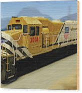 Union Pacific 2014 At Work Wood Print