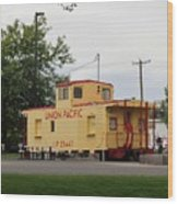 Union Pacific Caboose Wood Print