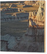 Unique Formations Of Coal Mine Canyon Wood Print