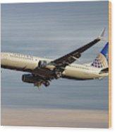 United Airlines Boeing 737-824 Wood Print
