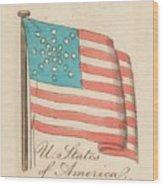 United States Of America, 1838 Wood Print