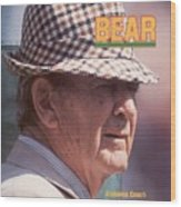 University Of Alabama Coach Paul Bear Bryant Sports Illustrated Cover Wood Print