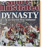 University Of Alabama Mark Ingram, 2010 Citi Bcs National Sports Illustrated Cover Wood Print