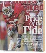 University Of Alabama Mark Ingram Sports Illustrated Cover Wood Print