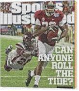 University Of Alabama Vs Virginia Tech, 2013 Chick-fil-a Sports Illustrated Cover Wood Print