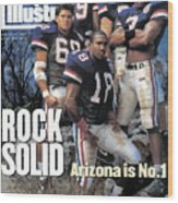 University Of Arizona, 1994 College Football Preview Issue Sports Illustrated Cover Wood Print
