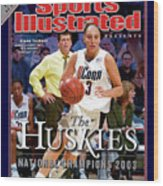 University Of Connecticut Diana Taurasi, 2003 Ncaa Womens Sports Illustrated Cover Wood Print
