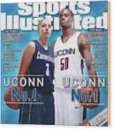 University Of Connecticut Diana Taurasi And Emeka Okafor Sports Illustrated Cover Wood Print
