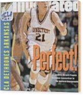 University Of Connecticut Jennifer Rizzotti, 1995 Ncaa Sports Illustrated Cover Wood Print