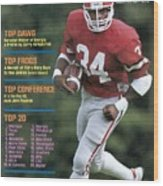 University Of Georgia Herschel Walker Sports Illustrated Cover Wood Print