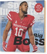 University Of Houston Ed Oliver, 2018 College Football Sports Illustrated Cover Wood Print