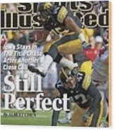 University Of Iowa Derrell Johnson-koulianos Sports Illustrated Cover Wood Print