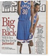 University Of Kansas Julian Wright And Mario Chalmers Sports Illustrated Cover Wood Print