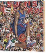 University Of Kansas Marcus Morris, 2011 March Madness Sports Illustrated Cover Wood Print